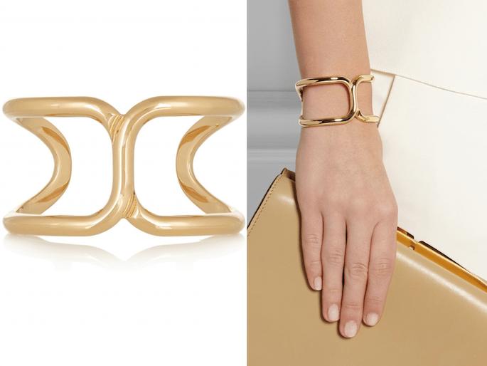 Accesorios en color dorado para una invitada fashionista - Chloé en Net a Porter