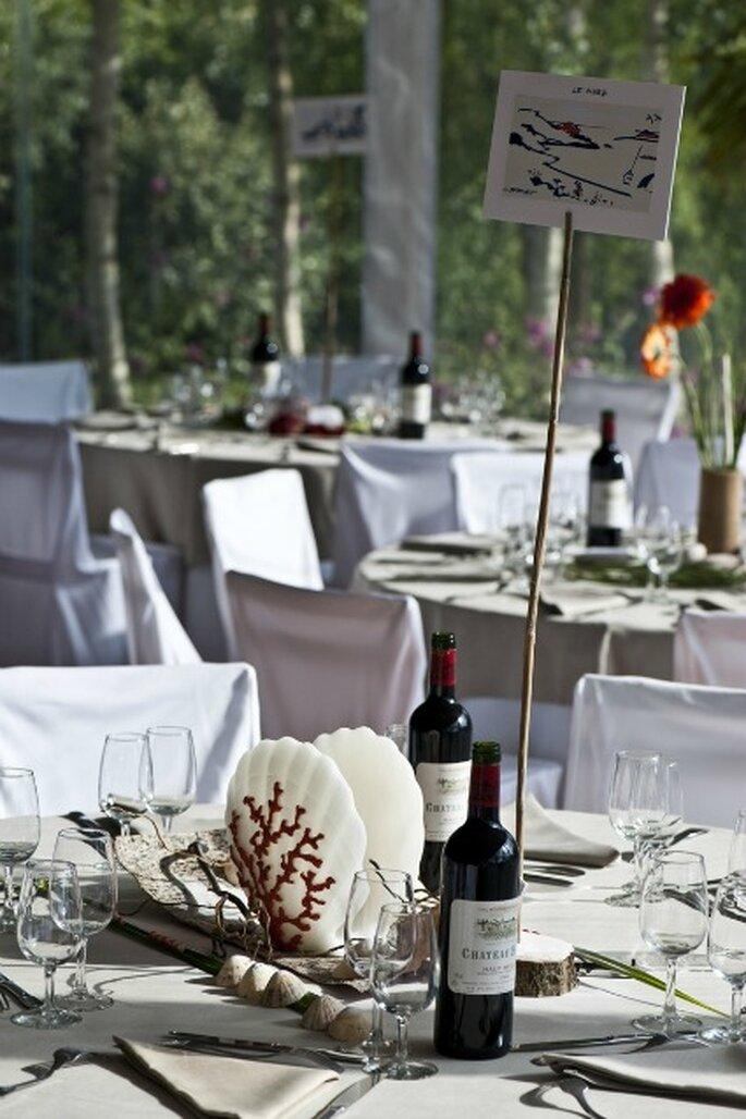 Mets et vins doivent être en accord pour le repas de mariage - Photo : Com'une Orchidée