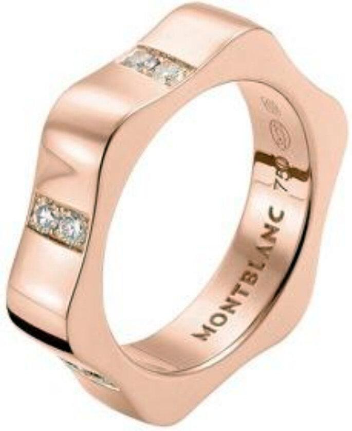 Montblanc oro rosa y diamantes