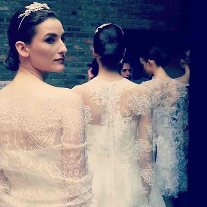 Diademas de pedrería para novias - Foto Monique Lhuillier
