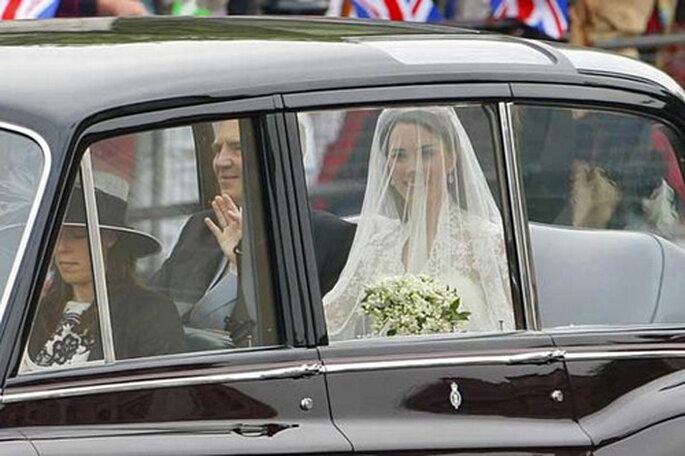 Memorabile l'arrivo di Kate Middleton il giorno delle sue nozze con il principe Willian. Foto: PA