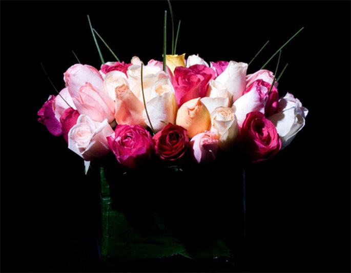 Rosas de diversos tonos - Foto: Ramos Boutique Floral