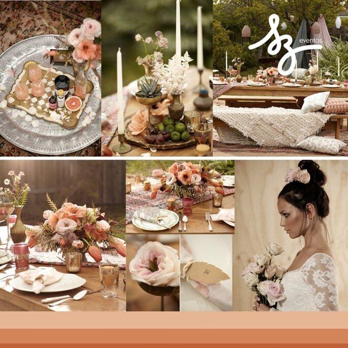 Inspiración étnica para tu boda - Foto Scott Clark Photography y Grace Loves Lace
