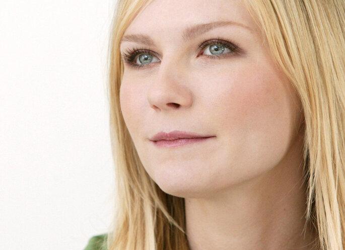 Kirsten Dunst tem um rosto redondo