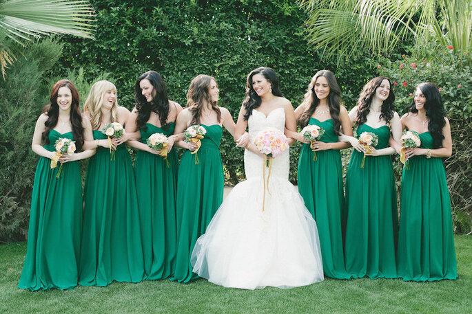 Color esmeralda para la decoración de boda - Onelove Photography