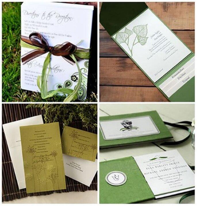 Invitaciones de boda de papel reciclado