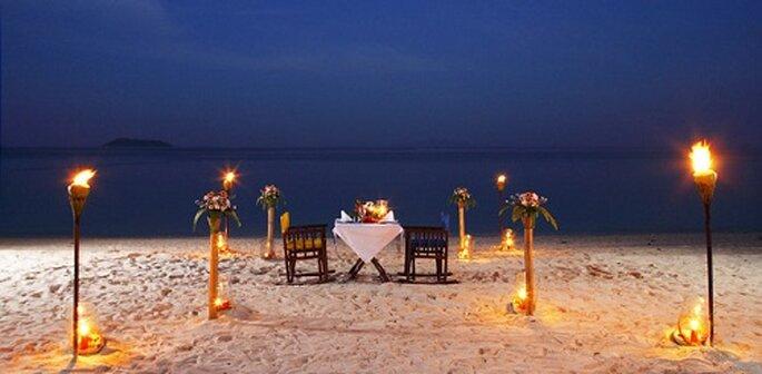 Romantisches Hochzeitsessen