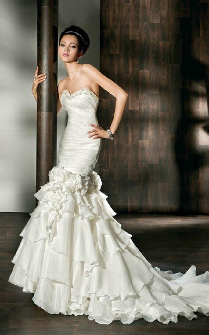 Vestido de novia dos en uno. Demetrios 2012