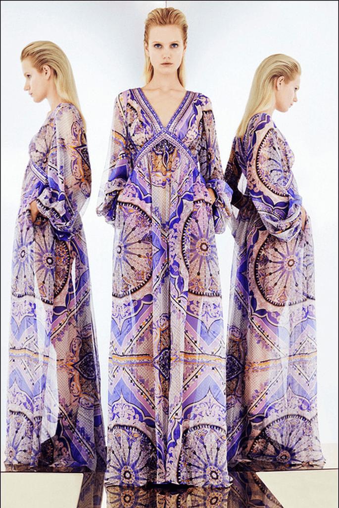 Vestido de fiesta 2014 con silueta maxi estilo hippie para boda 2014 - Foto Emilio Pucci