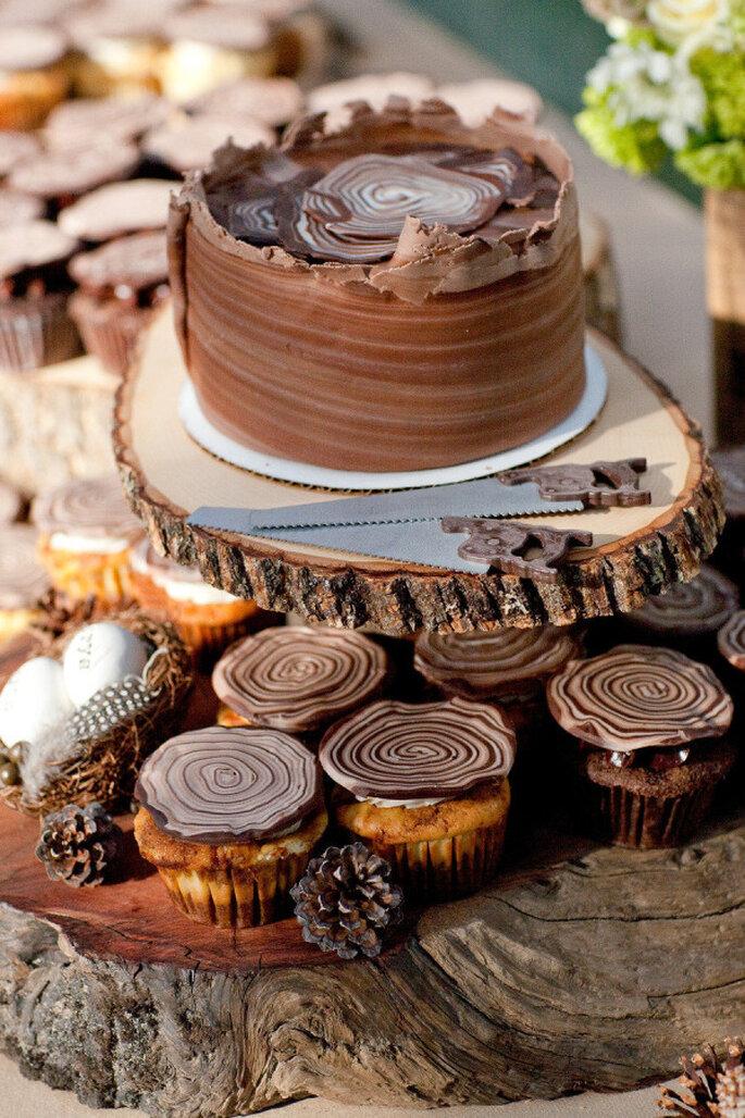 Pastel de chocolate - Larissa Cleveland Photography
