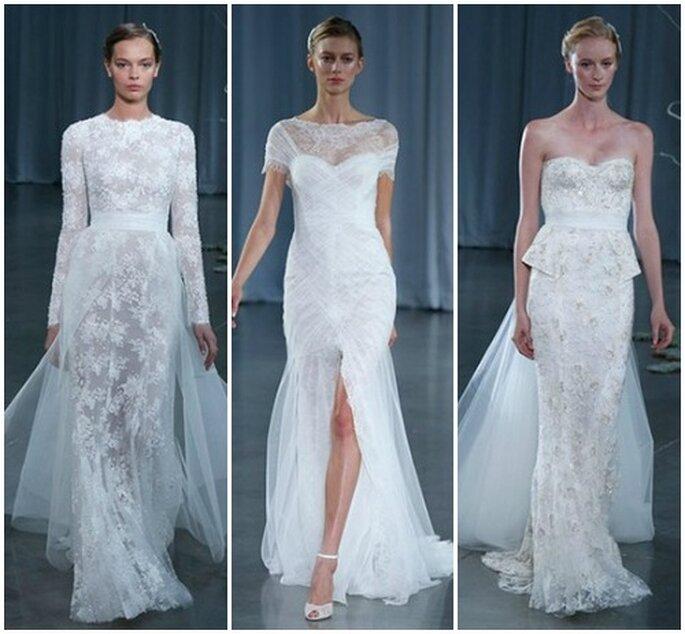 Per Monique Lhuillier la sposa 2013 è romantica e glamour! Monique Lhuillier Fall 2013 Bridal Collection. Foto: www.moniquelhuillier.com