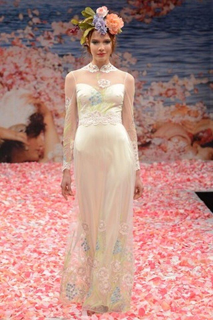 Brautkleid in Pastelltönen - Foto: Claire Pettibone