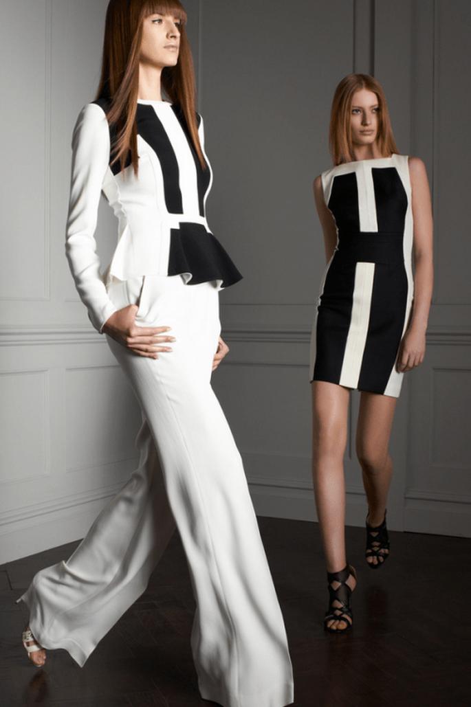 Conjuntos en colores blanco y negro para boda 2014 - Foto Elie Saab