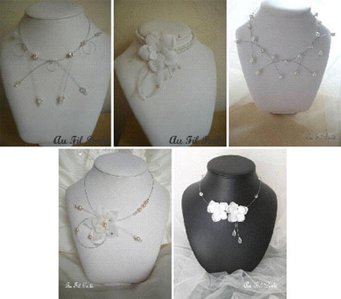Colliers pour robes de mariée à bustier