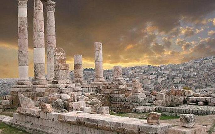 La ciudad de Petra, en Jordania...
