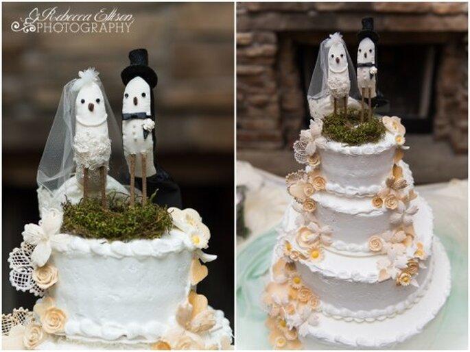 Guardar la última capa o piso del pastel de bodas - Foto Rebecca Ellison
