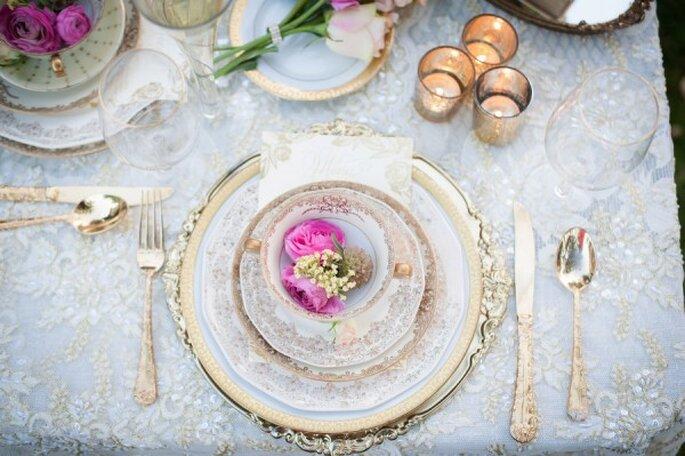 Inspiración para una boda romántica - Fotos de True Bliss Photography