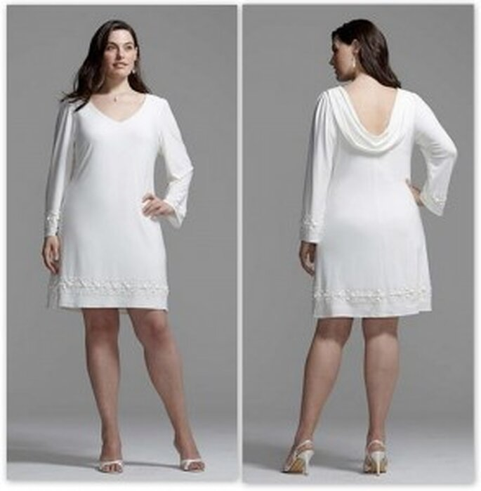 Vestido de novia de manga larga de Davids Bridal
