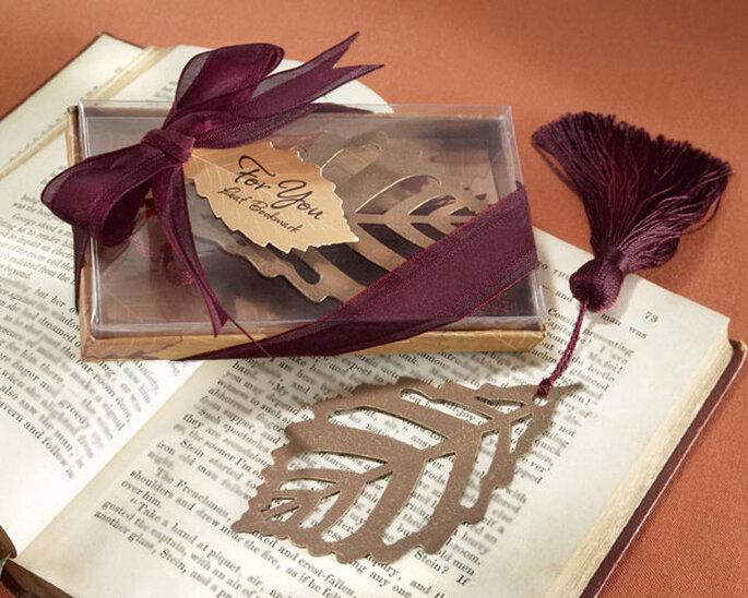 Señalador para libro en forma de hoja de otoño