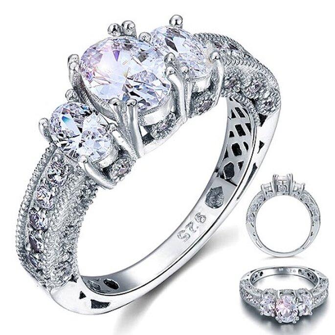 Une bague de mariage que l'on rêverait d'avoir au doigt ...