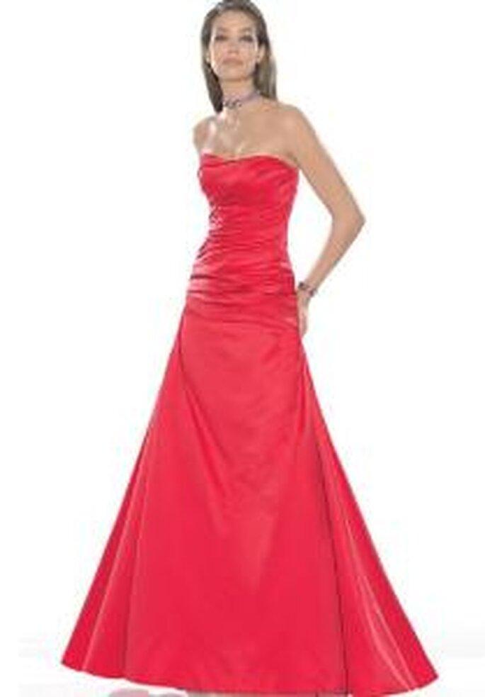 La Sposa 2009 - Robe bustier, longue, rouge, de coupe princesse