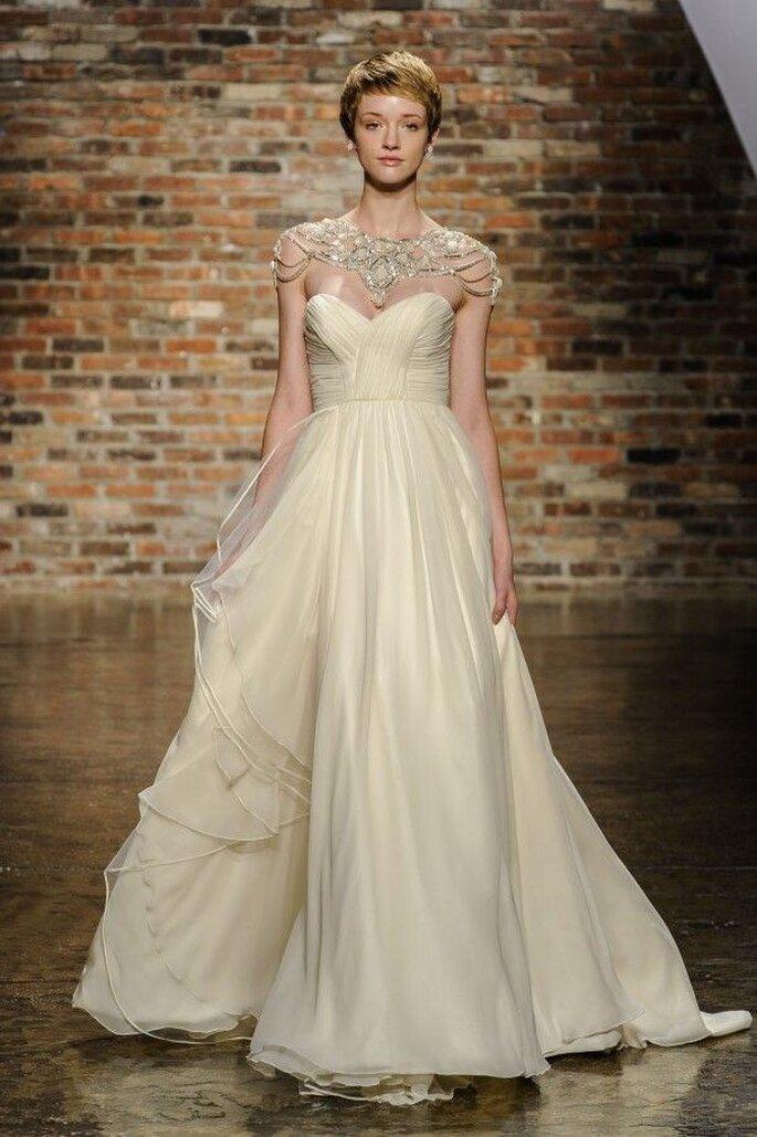 destellos de un estilo muy chic en tu boda: vestidos de novia con
