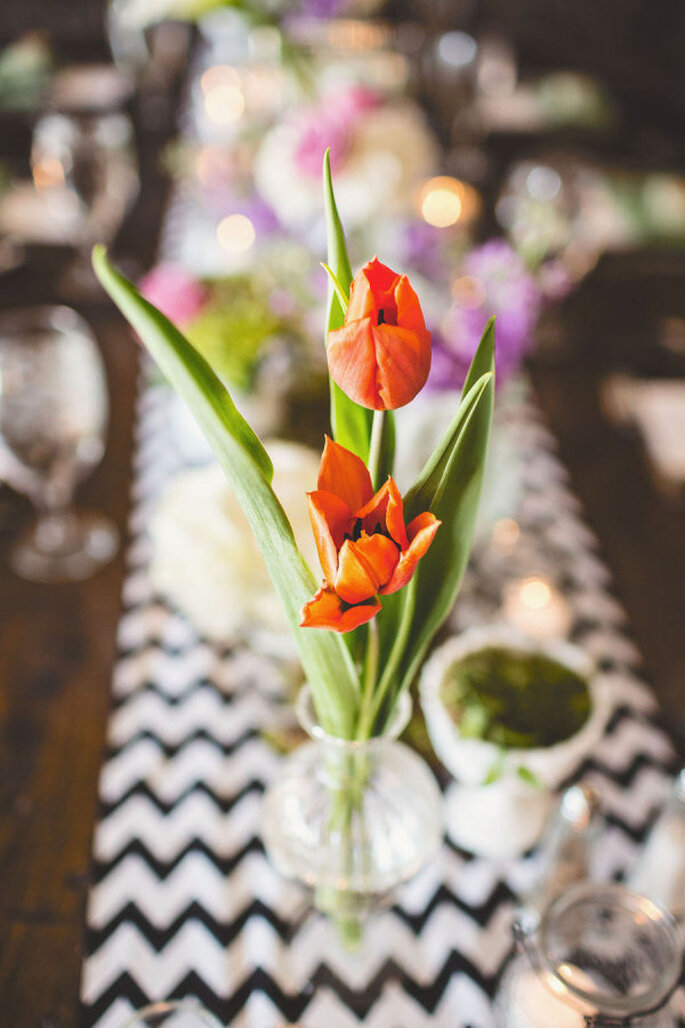 decoración con tulipanes - Michael Moss Photography