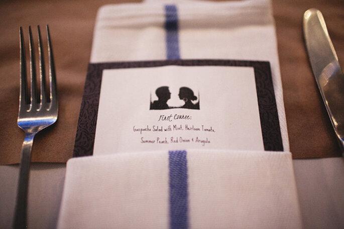 Decoración con siluetas para tu boda - Foto Christian Gideon Photography