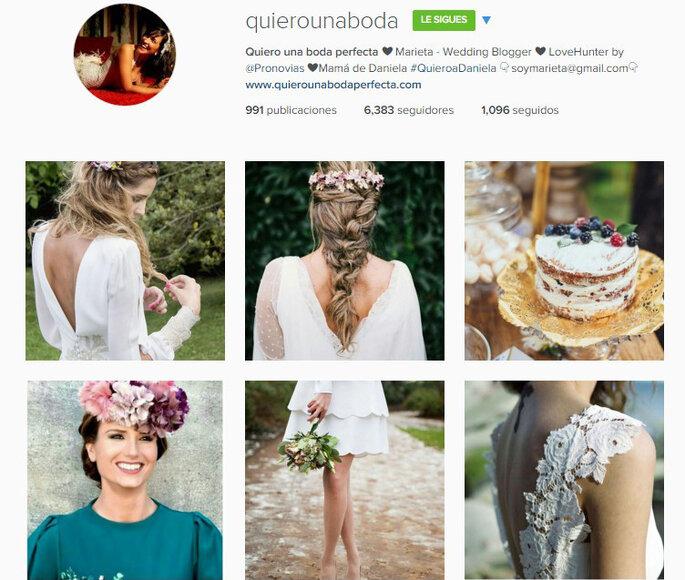 Imagen vía Instagram Quiero una boda perfecta