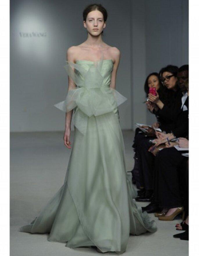 Vestido de novia corte princesa, strapless en organza