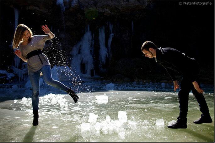 Preboda sobre hielo. Natan Fotografia