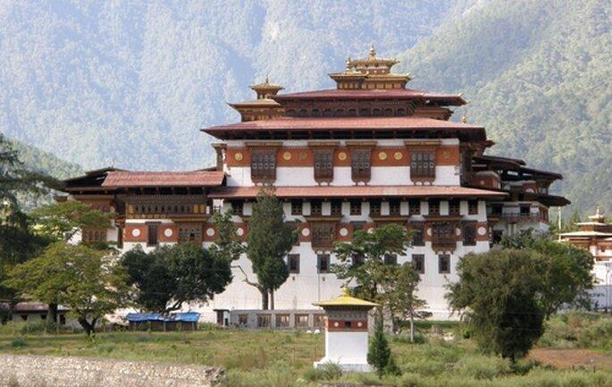 Punakha, Bhutan. Foto de Panoramio por © Marc Wensveen