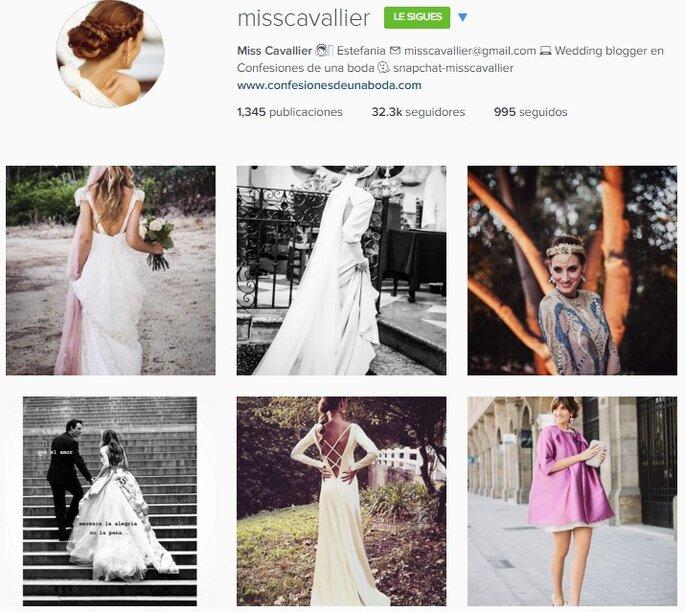 Imagen vía Instagram Miss Cavallier