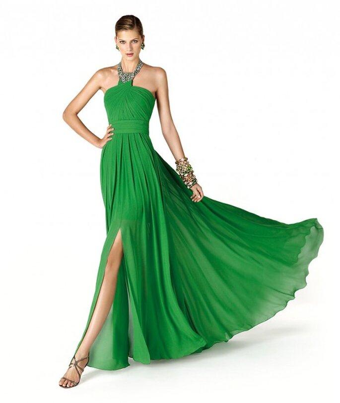Vestido de fiesta para damas de boda en color verde intenso - Foto La Sposa