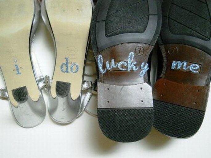 Stickers también para los zapatos del novio