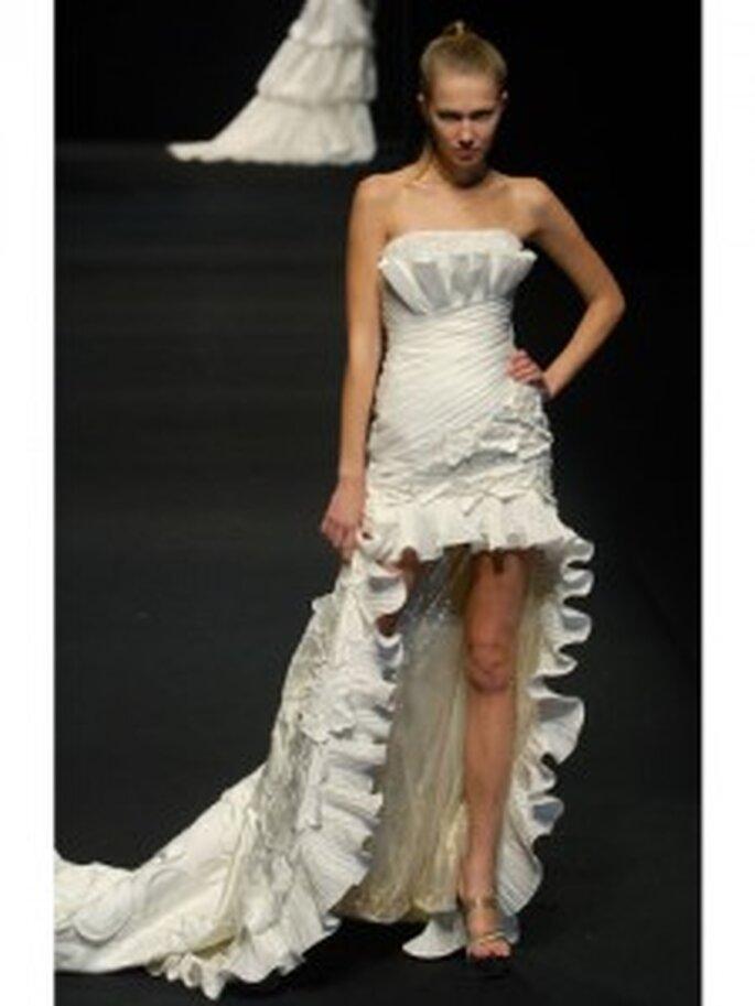 Vestido de novia ni corto, ni largo