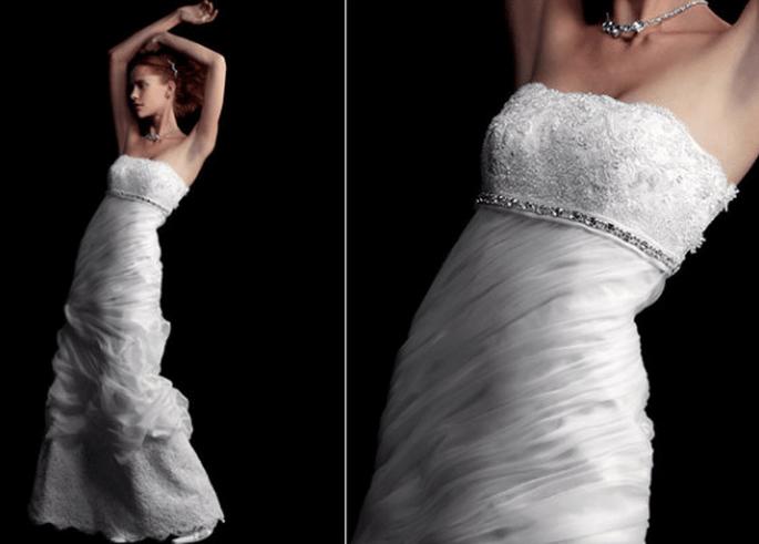 Vestido silueta imperio, colección Fabio Gritti 2012