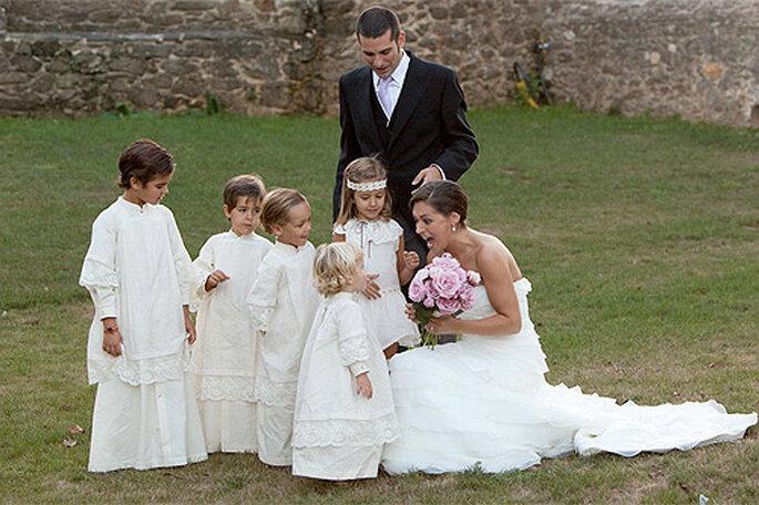 Los pequeños pajes de la novia también tienen su protagonismo en el gran día. Foto: No Sin Valentina
