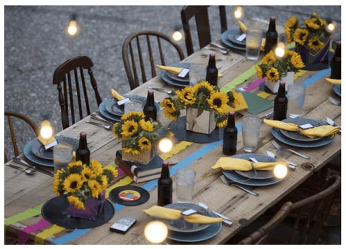 Fiesta de compromiso con una decoración bohemia - Foto Daniel Mast