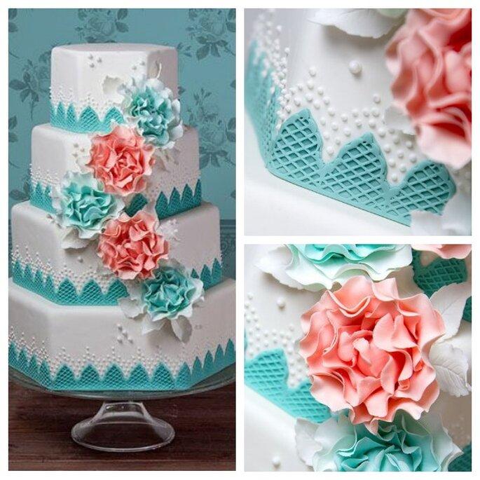 Pastel de bodas 'Dreamland'. Foto: Dreams & Cakes