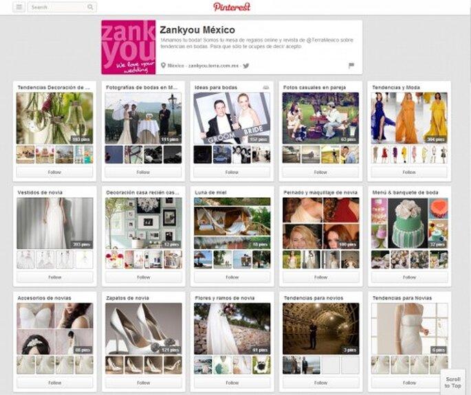 Pizarras de inspiración de boda Zankyou en Pinterest