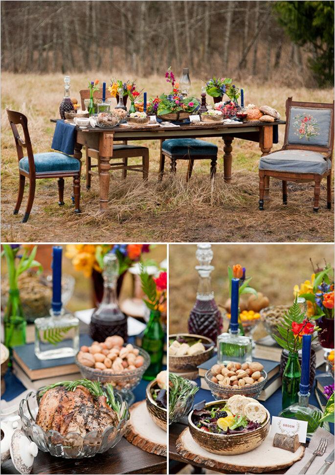 Una boda espectacular inspirada en Los juegos del hambre - Foto Courtney Clarke Photography