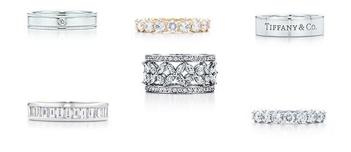 'Wedding bands' de Tiffany's, en oro blanco y amarillo, con diamantes incrustados