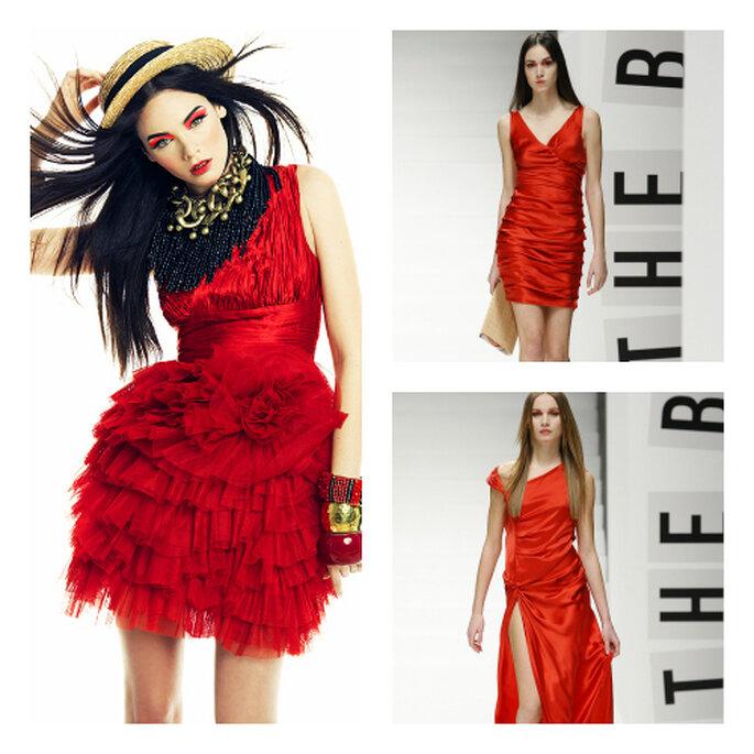 Vestidos de Veneno en la piel en tono rojo. Foto: Veneno en la piel