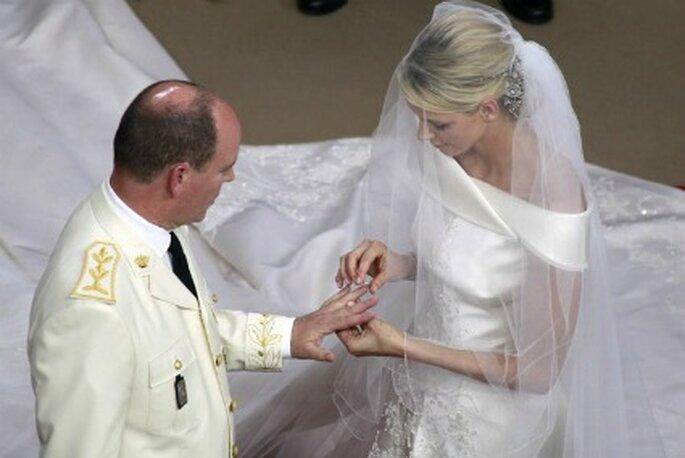 Intercambio de alianzas en la boda de Mónaco - Getty Images