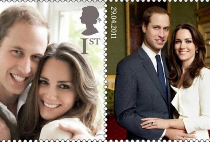 Timbres à l'éphigie de William et Kate