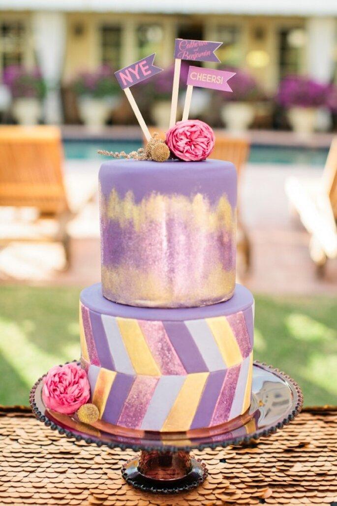 Pasteles de boda multicolor para 2014 - Foto Chelsey Boatwright