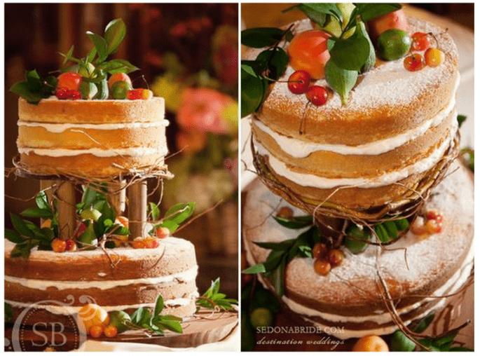 El naked cake, la tendencia más deliciosa en pasteles de boda - Foto Sedona Bride