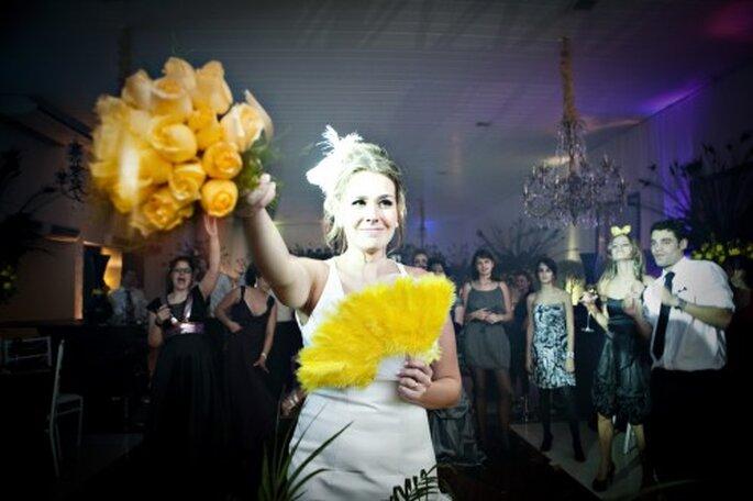 Ramo de novia en color amarillo. Fotografía  Andrea Paccini