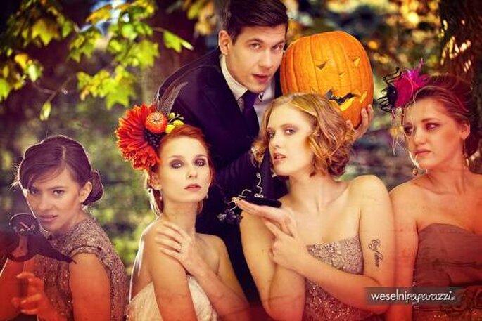 Boda en Halloweeen. Foto de Weselni Paparazzi.